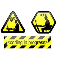 Coding in progress vector
