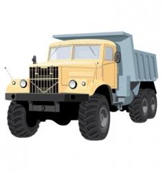 dump truck vector image vector image