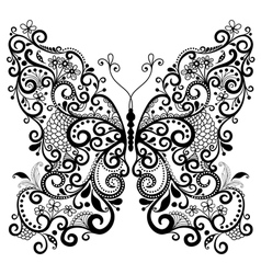 fantasy lacy vintage butterfly vector image