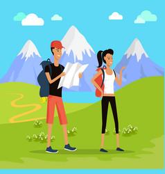 outdoor recreation concept in flat design vector image vector image