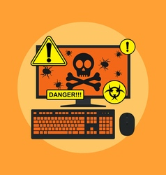 pc infection vector image vector image