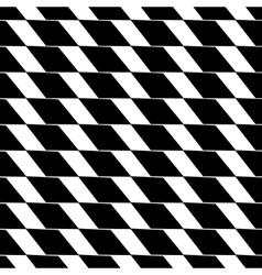Rhombus black seamless pattern vector image