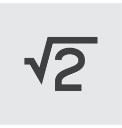 Square root icon vector image