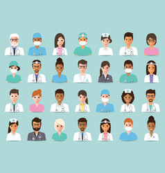 medical and hospital staff vector image