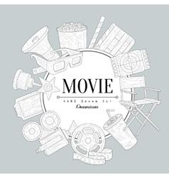Movies Vintage Sketch vector image vector image