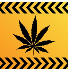 sign of marijuana vector image vector image