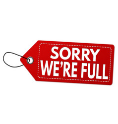 sorry were full label or price tag vector image