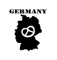 symbol of germany and map vector image vector image