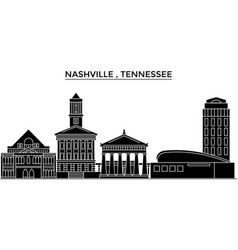 usa nashville tennessee architecture vector image