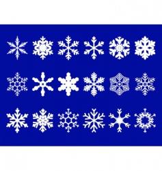 vector snowflakes set vector image