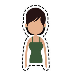 woman icon image vector image