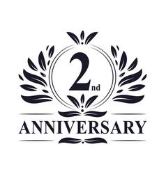 2 years anniversary logo 2nd anniversary vector