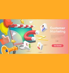 3d conceptual online store vector