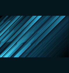 Abstract blue technology cyber circuit line shadow vector