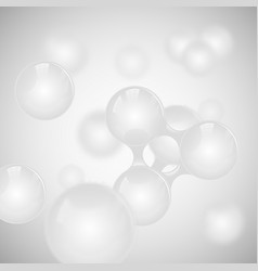 abstract light grey glossy molecule design vector image