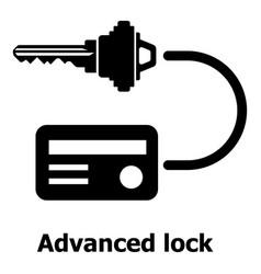 Advanced lock icon simple black style vector