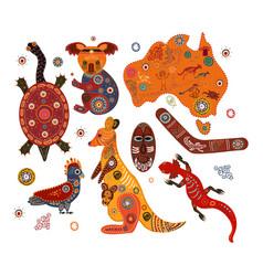 Australian national traditional symbols vector