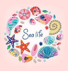 basic rgbframe with underwater sea life vector image