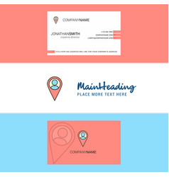 beautiful location logo and business card vector image