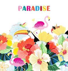 Beautiful of bird of paradise vector