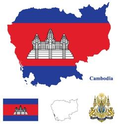 Cambodia Flag vector