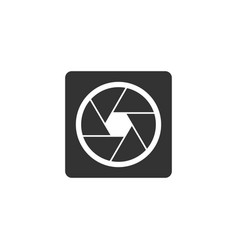 camera shutter icon isolated flat design vector image