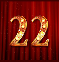 Celebrating of 22 years anniversary vector