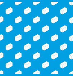 Cement block pattern seamless blue vector