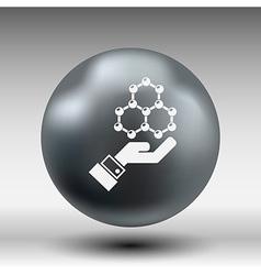 Checkmark on hand web icon design vector