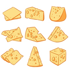 Cheese slice Hand drawn cheese sketch vector