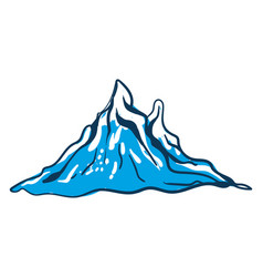 child drawing winter mountain or color vector image