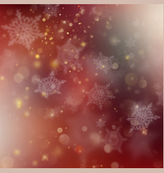 christmas red holiday glowing background eps 10 vector image