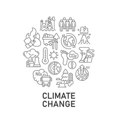Climate change abstract linear concept layout vector