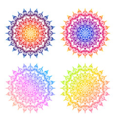 colorful mandala 4 color option vector image