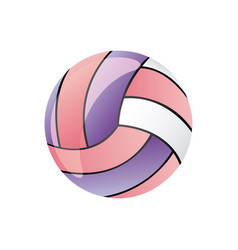 colorful silhouette volleyball ball element sport vector image