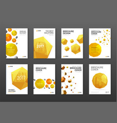 corporate brochure cover design templates vector image