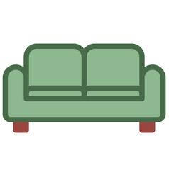 couch icon filled line style eps10 vector image