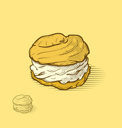 Cream puffs vector