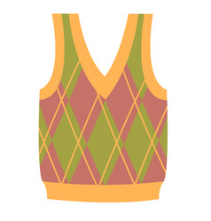 Cute vibrant elegant colorful vest sweater vector