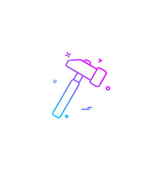 day hammer labor labour icon design vector image