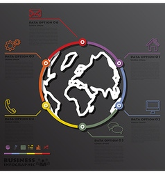 Earth And World Line Circle Shape Business vector