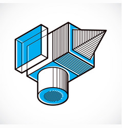 Engineering three-dimensional construction vector
