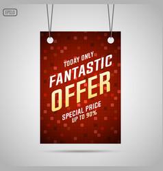 Fantastic offer sale background vector