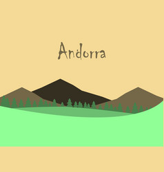 Flat icons on theme of andorra landscape vector