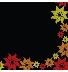Flower burst on black background vector