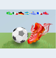 football shoes and ball vector image