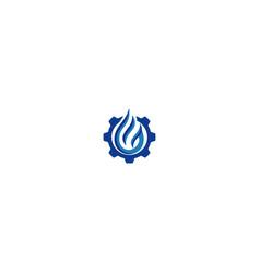 gas station logo design vector image