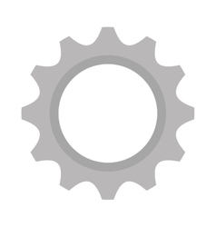 Gear setup machinery icon vector