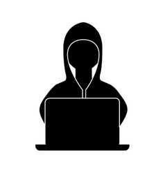 Hacker avatar character isolated icon vector