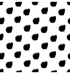 Hand drawn black dots seamless pattern vector image